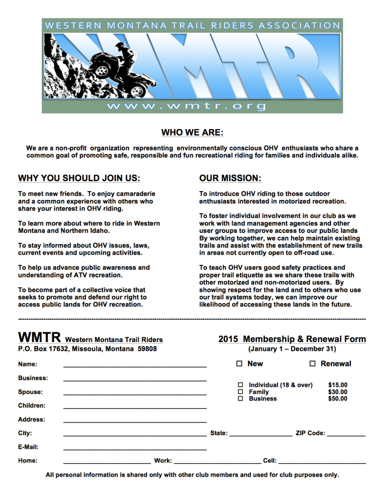 2015 WMTRA Membership Form Color